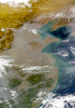 Contaminación China oriental