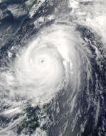 Super Typhoon Nida (04W) over the Philippines