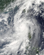 Typhoon Conson (07W) off the Philippines