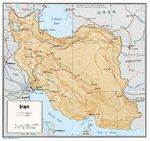 Mapa de Relieve Sombreado de Irán
