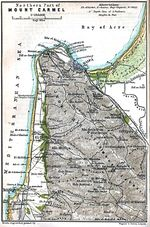 Map of Mount Carmel Northern Part, Israel 1912
