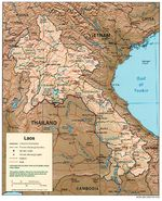 Mapa de Relieve Sombreado de Laos