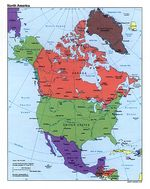 North America Political Map 1995