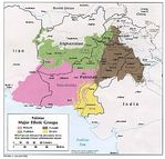 Pakistan Major Ethnic Groups Map