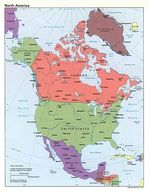 North America Political Map 1992