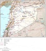 Mapa de Relieve Sombreado de Syria