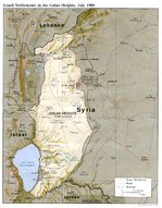 Shaded Relief Map of Israeli Settlements in the Golan Heights