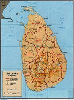 Sri Lanka Shaded Relief Map