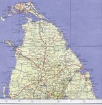 Northern Ceylon (Sri Lanka) Topographic Map 1959