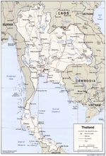 Thailand Political Map