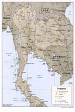Thailand Shaded Relief Map