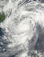 Typhoon Lekima (23W) southeast of Taiwan