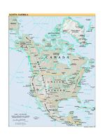 Mapa Relieve Sombreado de Am�rica del Norte