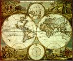 World map, Nova Orbis Tabula 1662