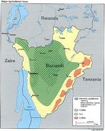 Burundi Major Agricultural Areas Map