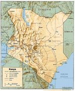 Mapa de Relieve Sombreado de Kenia