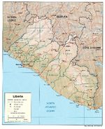 Liberia Shaded Relief Map