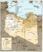 Mapa de Relieve Sombreado de Libia