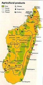 Madagascar Agricultural Products Map