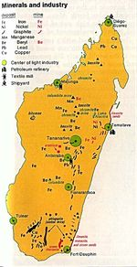 Madagascar Minerals and Industry Map