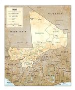 Mali Shaded Relief Map