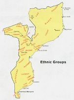 Mozambique Ethnic Groups Map