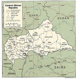 Central African Republic Political Map