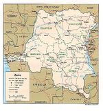 Democratic Republic of the Congo (Zaire) Political Map