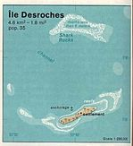 Desroches Island Shaded Relief Map, Seychelles