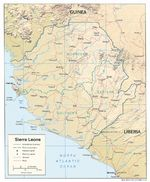 Sierra Leone Shaded Relief Map