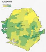 Sierra Leone Population Map