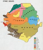 Sierra Leone Ethnic Groups Map