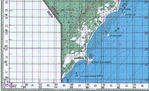 Topographic Map of Ras Kamboni Area, Southern Tip of Somalia