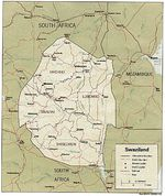 Swaziland Political Map