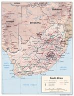 South Africa Shaded Relief Map