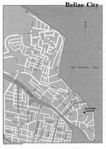 Belize City Map, Belize