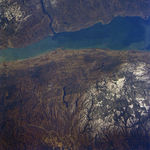 Satellite Image, Photo of Saint Lawrence River, Quebec