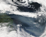 Smoke from Alaskan wildfires off Canada