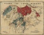 Havana Map Showing Street Cleaning, Cuba 1899