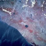 Satellite Image, Photo of San Salvador, El Salvador (infrared)