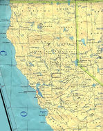 Northern California State Map, United States
