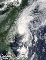 Hurricane Alex (01L) off United States East Coast