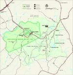 Kings Mountain National Military Park Map, North Carolina, United States