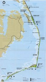 Area Map Cape Hatteras National Seashore, North Carolina, United States