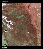 Satellite Image, Photo of Laguna de la La Laja, Chile