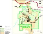 Park Map of Florissant Fossil Beds National Monument, Colorado, United States