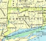 Connecticut State Map, United States