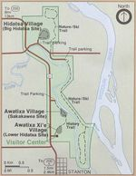 Park Map of Knife River Indian Villages National Historic Site, North Dakota, United States