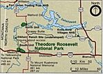 Area Map of Theodore Roosevelt National Park, North Dakota, United States