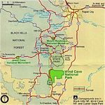 Buffalo National River Park Map, Arkansas, United States